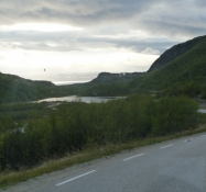 Nordnorge set fra bussens vindue/Northern Norway seen from the bus