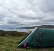 Fin udsigt over fjorden fra teltpladsen/Nice view across the fiord from the tent spot