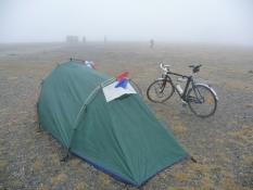 Tæt tåge på Nordkap/Dense fog on the North Cape