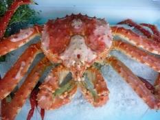 Man spiser godt - og dyrt - på Nordkap/Thereʹs delicious - and expensive - food on the North Cape