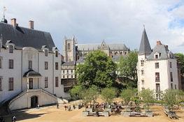 Nantes, Kathedrale, vom Schloss gesehen