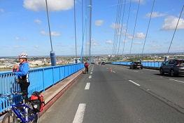 Auf der Loire-Brücke bei Saint-Nazaire