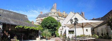 Château de Langeais aus dem Garten unserer Unterkunft