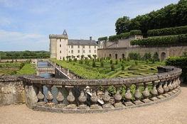 Château de Villandry, Ziergarten und Schloss