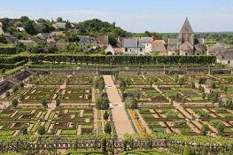 Château de Villandry, Gemüsegarten vom Belvedere