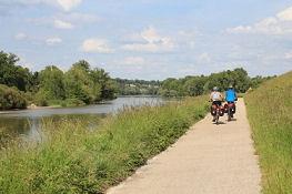 Loire-Radweg östlich von Tours