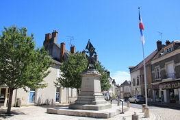 Jeanne d'Arc Denkmal in Jargeau