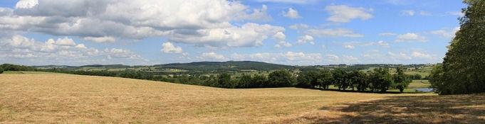 Landschaft bei Bourbon-Lancy