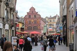 Mulhouse, Blick von der Rue Lambert auf das Rathaus
