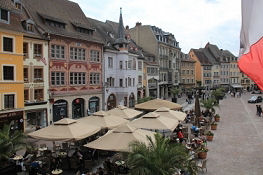 Mulhouse, Place de la Réunion vom Rathaus