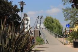 Dreiländerbrücke über den Rhein bei Huningue