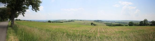 Blick aus den Vogesen Richtung Rheinebene