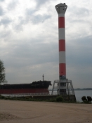 Fyrtårn ved Elben/A lighthouse on the bank of the Elbe
