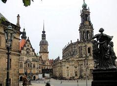 Dresden, Hofkirche und Stadtschloss