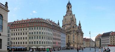 Dresden, Frauenkirche vom Jüdenhof