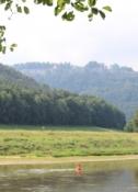 Blick zurück auf die Festung Königstein