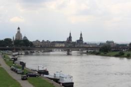Stadtsilhouette Dresdens von Nordosten
