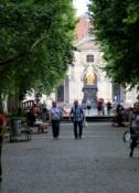 Dresden, Neustädter Hauptstraße mit Blick auf den Goldenen Reiter