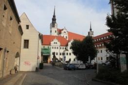 Schloss Torgau aus der Altstadt