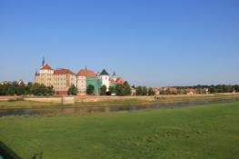Torgau vom gegenüberliegenden Ufer