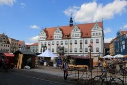 Wittenberg, Marktplatz mit Rathaus