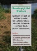 Fähre Brambach - nur für laute Rufer