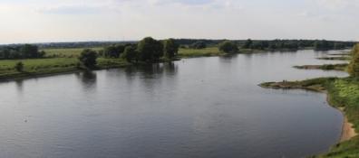 Elbe am Wasserstraßenkreuz bei Hohenwarthe