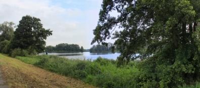 Blick vom Radweg auf die Havel bei Gollwitz