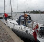 Afgang fra Egernsund med cykler ombord/Departure from Egernsund with bikes on board