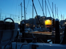 Vel ankommet i havnen i Damp/Upon arrival at the port of Damp
