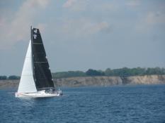 Mange sejlbåde på vej hjem fra kapsejladsen Fyn Rundt/Many yachts on their way from a sailing race