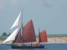 Også mange smukke træskibe på vandet/Also many wooden ships on the water