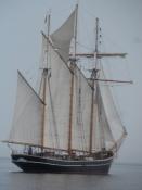 Det flotteste træskib, vi så/This was the most beautiful wooden ship, we saw