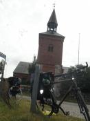 Kirketårnet set nedefra/The churchtower seen from below