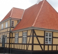 Flot bindingsværkshus i Rudkøbing/Beautiful half timbered house in Rudkoebing