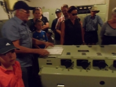 På rundvisning i operationsbunkeren/A guided tour of the operational bunker
