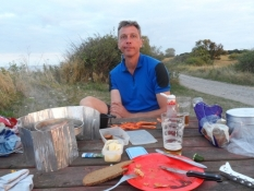 Aftensmad ved stranden/Supper besides the beach