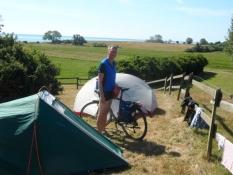 Vores telte på Skovsgaards teltplads/Our tents pitched on Skovsgaardʹs tent site.