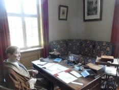 Godsforvalterens kontor i stueetagen/The land agentʹs office on the ground floor