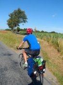 Kolja og jeg cykler hjem igen/Kolja and I on our way back home