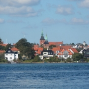 De to kirker i Svendborgs centrum/The two churches in the city centre of Svendborg