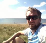 Selfie på toppen af Vårø knude yderst på Monnet/Selfie on top of a hill on the tip of Monnet