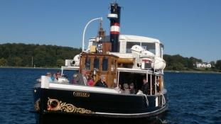 Sundbåden er bygget i 1924/The ship, touring the sound, is built in 1924