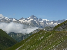Furkapass, Blick zum Finsteraarhorn