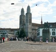 Zürich, Münsterbrücke, Großmünster