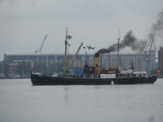 Første stop Flensborg med dampskibstræf/First stop Flensburg with a steam boat festival