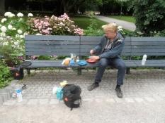 Morgenmad i Münchens gamle botaniske have/Breakfast in Munichʹs old botanic garden