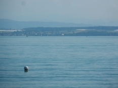 Kig ud over Bodensøen mod den schweiziske side/A view across Lake Constance into Switzerland