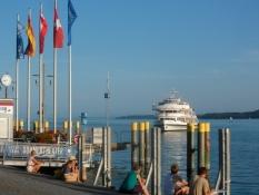 Udflugtsbåd på Bodensøen/Passenger ship on Lake Constance