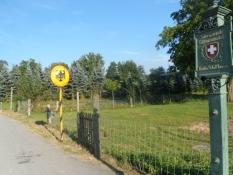 Grænsen til Schweiz krydses kort før Stein am Rhein/The Swiss border is crossed just before Stein